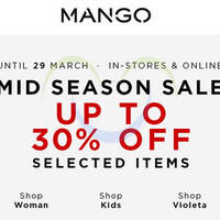Read more about Mango Mid Season Sale 21 - 29 Mar 2015
