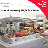 Marriott Cafe 1-for-1 High Tea Buffet For Singtel Customers (Weekdays) 30 Mar - 30 Apr 2015