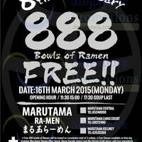 Read more about Marutama Ra-Men FREE 888 Bowls Giveaway @ All Outlets 16 Mar 2015