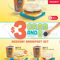 McDonald's $3 Grab & Go Weekday Breakfast Sets 2 Mar 2015