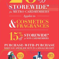 Metro 15% OFF Storewide Promo 6 - 8 Mar 2015