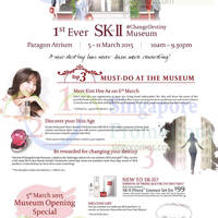 Metro SK-II ChangeDestiny Museum Event @ Paragon 5 - 11 Mar 2015