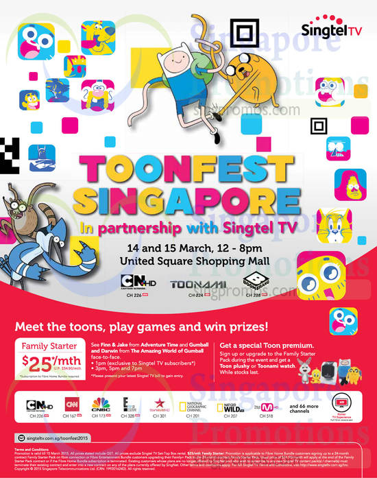 Mio TV 25.00 Family Starter Pack, Toonfest Singapore Roadshow