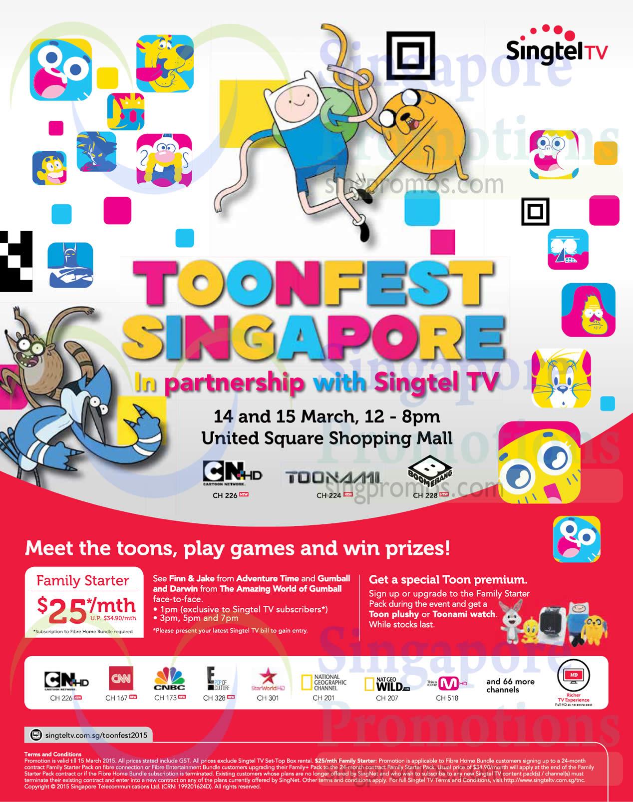 Mio TV 25.00 Family Starter Pack, Toonfest Singapore Roadshow