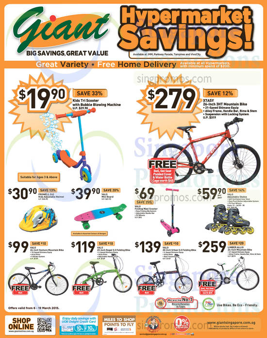 XTASY 26-Inch 3HT Mountain Bike, Prowell C42 Kids Adjustable Helmet, Valo Mini Board, Valo Folding Maxi Scooter, Valo Adjustable Skates, Valo 26-Inch Venture Mountain Bike, Valo 20-Inch Regal 5.0 Folding Bike, Valo 20-Inch Urban 5.0 Folding Bike, Limber Allio 24-Inch Mountain Bike