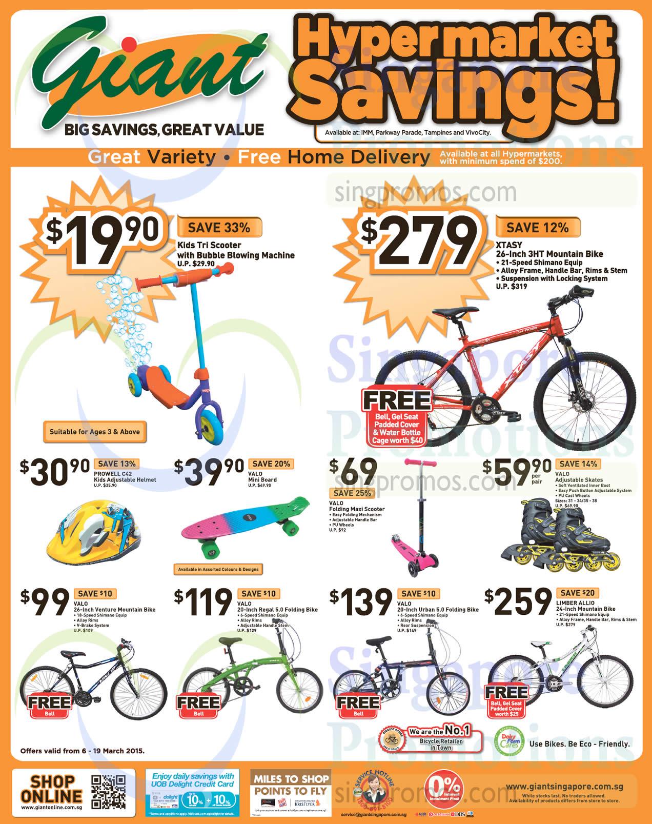 XTASY 26-Inch 3HT Mountain Bike, Prowell C42 Kids Adjustable Helmet, Valo Mini Board, Valo Folding Maxi Scooter, Valo Adjustable Skates, Valo 26-Inch Venture Mountain Bike, Valo 20-Inch Regal 5.0 Folding Bike, Valo 20-Inch Urban 5.0 Folding Bike, Limber Allio 24-Inch Mountain Bike