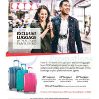 OCBC Spend & Redeem Luggages Travel Promotion 2 - 31 Mar 2015