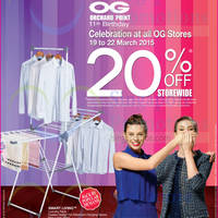 Read more about OG 20% OFF Storewide Promo 19 - 22 Mar 2015