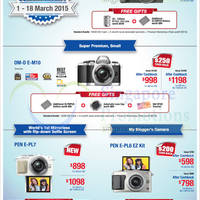 Olympus Digital Cameras Offers 1 - 18 Mar 2015