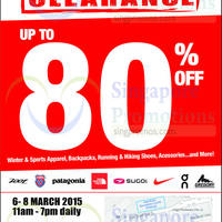 Outdoor Venture Sports Warehouse Clearance 6 - 8 Mar 2015