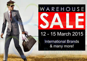 Safra International Brands Warehouse Sale 10 Mar 2015