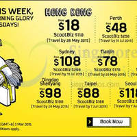 Scoot From $18 2hr Promo Air Fares (7am - 9am) 3 Mar 2015