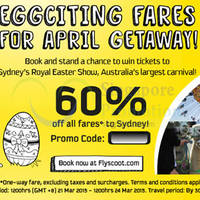 Read more about Scoot 60% Off Sydney Fares Promo Code 21 - 24 Mar 2015