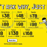 Scoot from $12 Promo Fares 5 - 7 Mar 2015