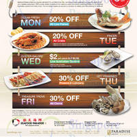 Read more about Seafood Paradise Up To 50% Off Weekdays Promo 20 Mar - 30 Apr 2015