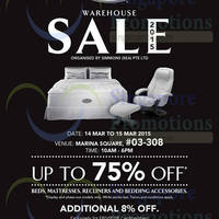 Read more about Simmons Warehouse Sale 14 - 15 Mar 2015