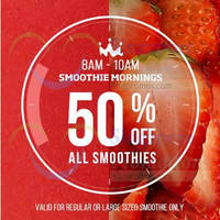 Read more about Smoothie King 50% Off Weekday Mornings @ 3 Outlets 23 Mar 2015