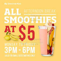 Smoothie King $5 Smoothies (3pm to 6pm) @ Suntec 30 Mar 2015