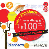 Read more about Sushi Express $1/plate Opening Promotion @ Clementi Mall 25 - 27 Mar 2015