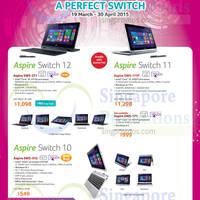 Read more about Acer Notebooks, Desktop PCs, Tablets & Monitors Price List 19 Mar - 30 Apr 2015
