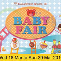 Takashimaya Baby Fair 18 Mar - 29 Apr 2015