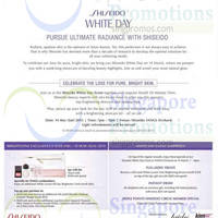 Shiseido Promotions @ Tangs 6 - 15 Mar 2015
