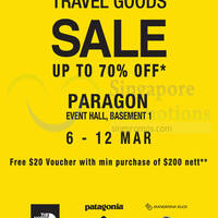 The Planet Traveller Up To 70% OFF Sale @ Paragon 6 - 12 Mar 2015