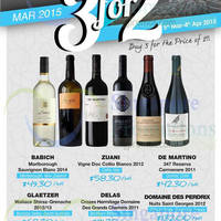The Straits Wine Company 3 For 2 Selected Wines 5 Mar - 4 Apr 2015