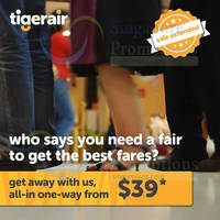 Read more about TigerAir From $39 (all-in) Promo Fares 9 - 15 Mar 2015