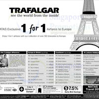 Trafalgar Travel 1 for 1 Europe Air Fares For HSBC Cardmembers @ Expo 6 - 8 Mar 2015