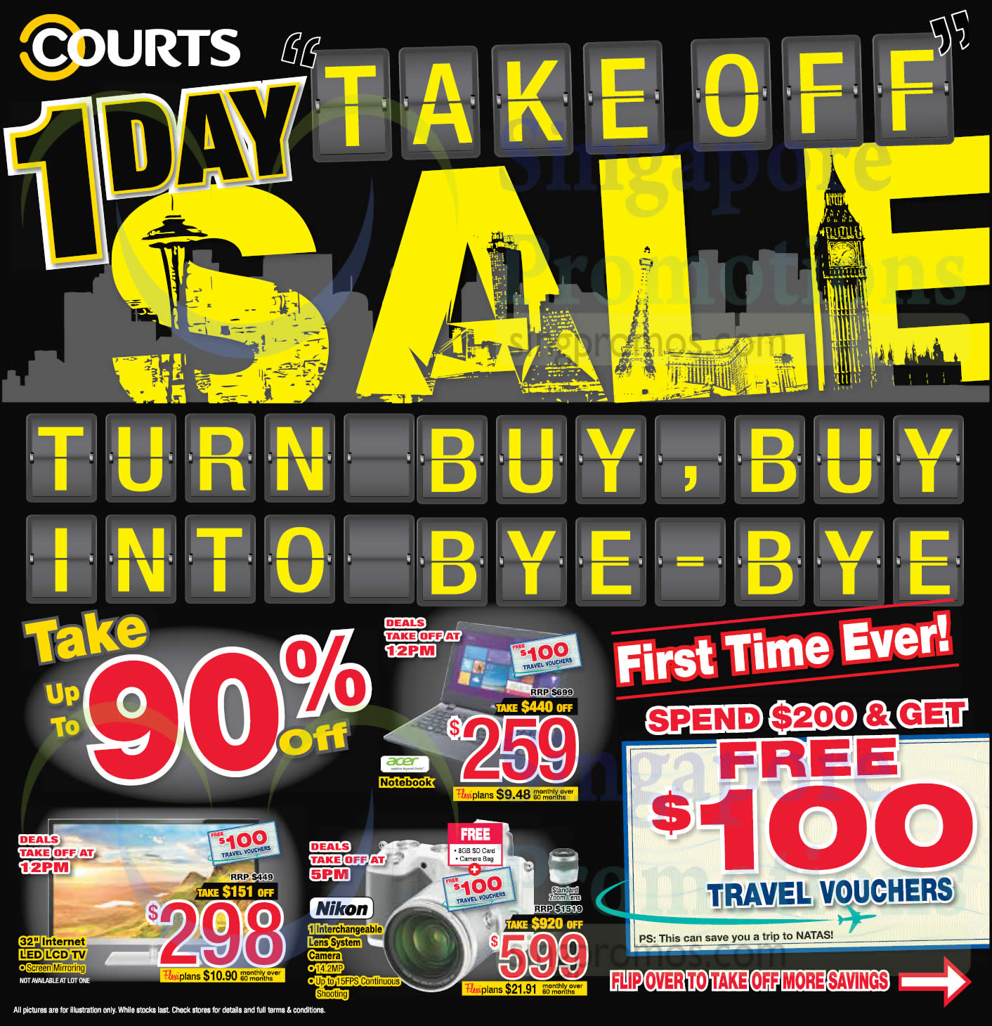 Up to 90 Percent off Take Off Sale