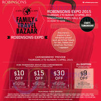 Read more about Robinsons Family & Travel Bazaar @ Singapore Expo 2 - 12 Apr 2015