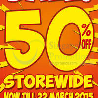 Read more about World of Sports 50% Off Storewide @ Bugis+ 7 - 22 Mar 2015
