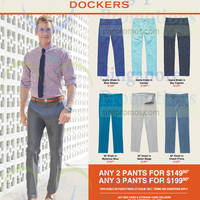 Read more about Dockers Pants 2 for $149.90 & 3 for $199.90 Promotion 1 Apr - 31 May 2015