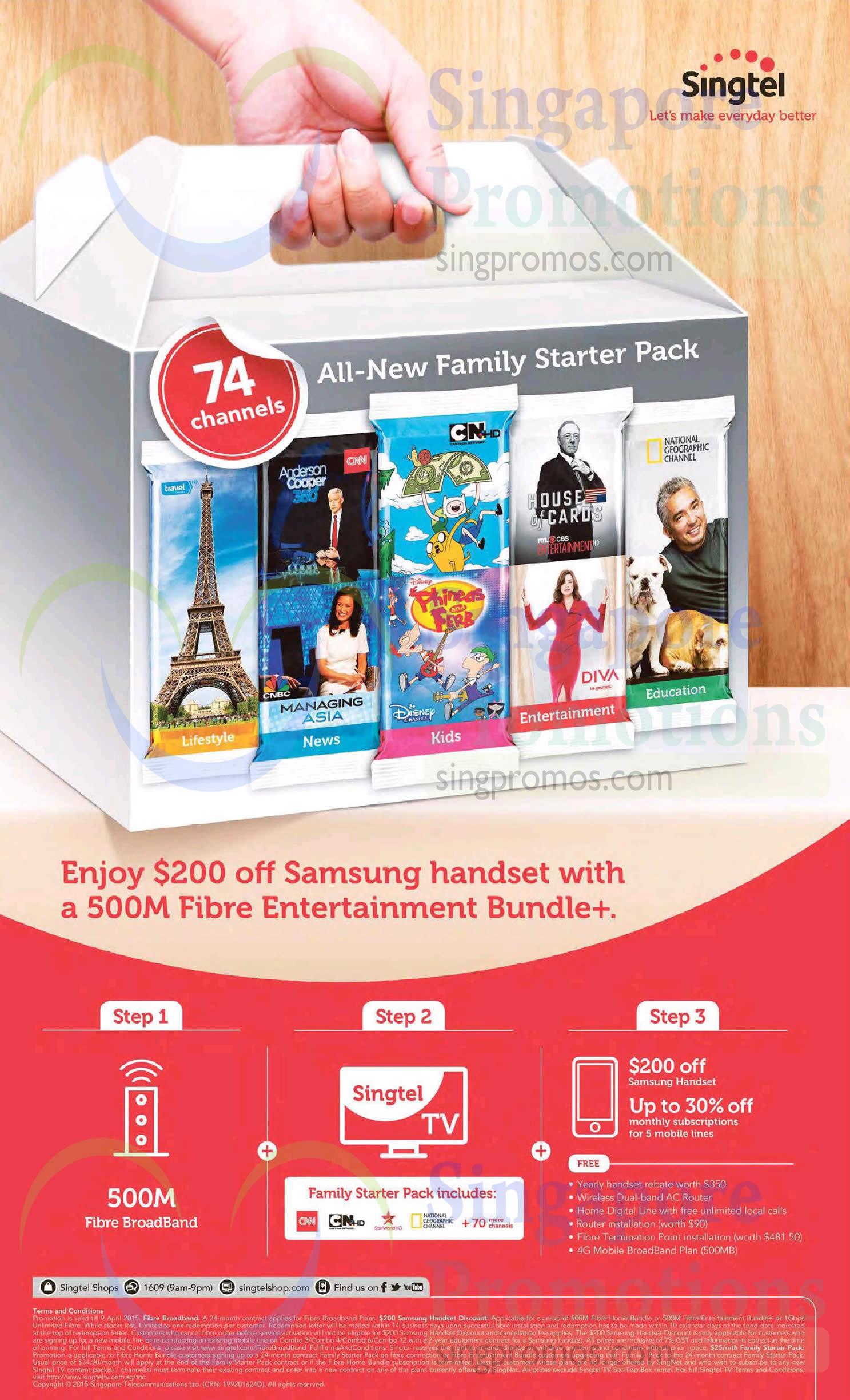 500M Fibre Entertainment Bundle 200 Dollar Off Samsung Handset