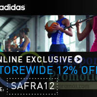 Adidas Online Store 12% Off For Safra Members 21 Apr - 7 Jul 2015