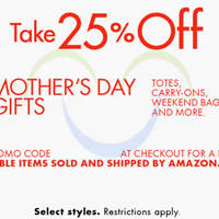Read more about Amazon.com 25% OFF Totes, Carry-Ons & More (NO Min Spend) Coupon Code 29 Apr - 11 May 2015