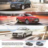 Read more about Audi A3 Sportback, Sedan, Cabriolet, A6 & Q5 Offers 18 Apr 2015