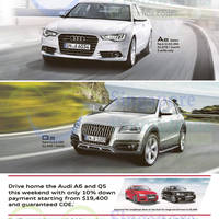 Read more about Audi A3, A4, A6 Sedan & Q5 Offers 25 Apr 2015