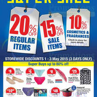 Read more about BHG 20% Off Storewide Super Sale 1 - 3 May 2015