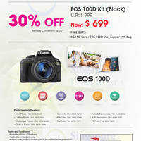 Canon 30% OFF EOS 100D DSLR Digital Camera For Students 28 Apr - 30 Jun 2015