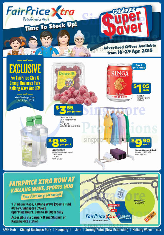 Greentree Dish Washing Liquid Twin Pack, Driscoll's USA Raspberries, Singa Energy Drink