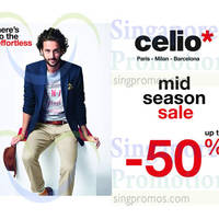 Read more about Celio* Mid Season Sale 1 Apr 2015