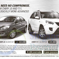Chery J3 & Chery T11 Features & Offers 25 Apr 2015
