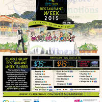Read more about Clarke Quay $35++ Set Meals Restaurant Week Promo 2015 20 Apr - 3 May 2015