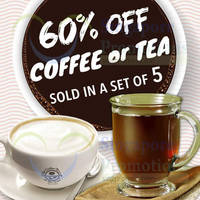 Read more about Coffee Bean & Tea Leaf 60% Off Coffee/Tea @ 40 Outlets 15 Apr 2015