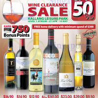 Cold Storage Wine Clearance @ Kallang Leisure Park 27 Apr - 10 May 2015