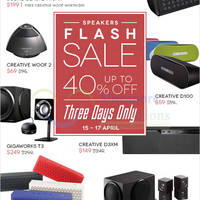Read more about Creative Speakers Online Flash Sale 15 - 17 Apr 2015