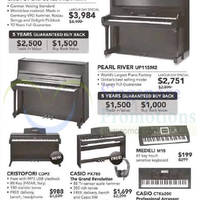 Cristofori 5.1% Off Pianos Promotion 24 Apr - 3 May 2015