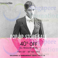 Read more about Crocodile Pop-up Store Sale @ HarbourFront Centre 3 - 5 Apr 2015